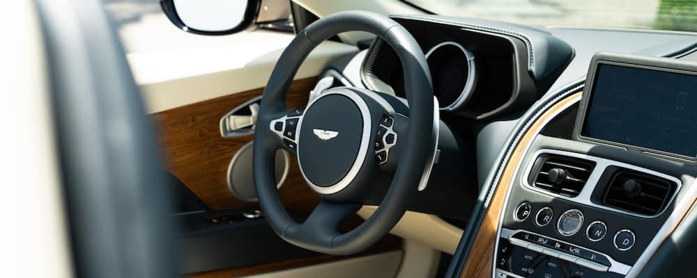 Aston Martin DB11 steering wheel and dashboard