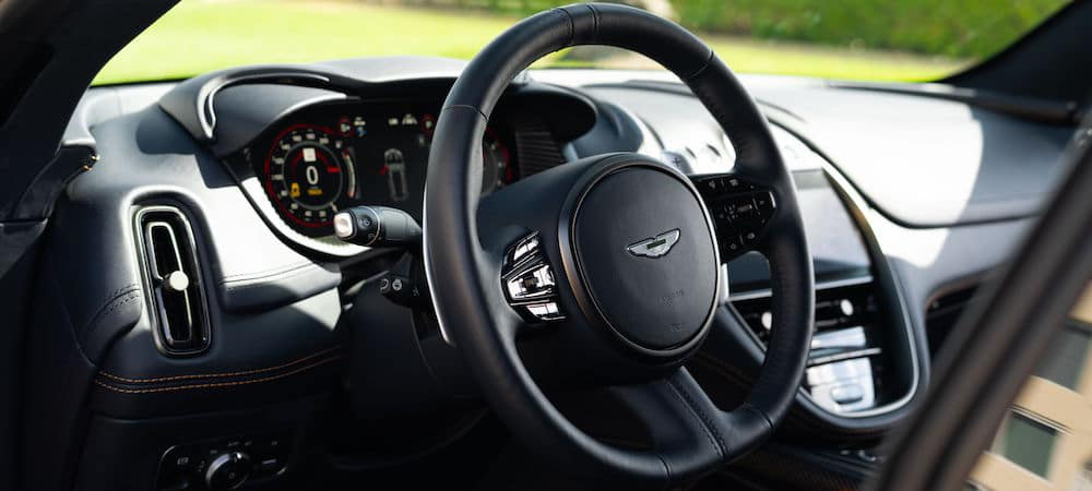 Aston Martin DBX steering wheel