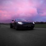 2021 Aston Martin DB11 driving at dusk