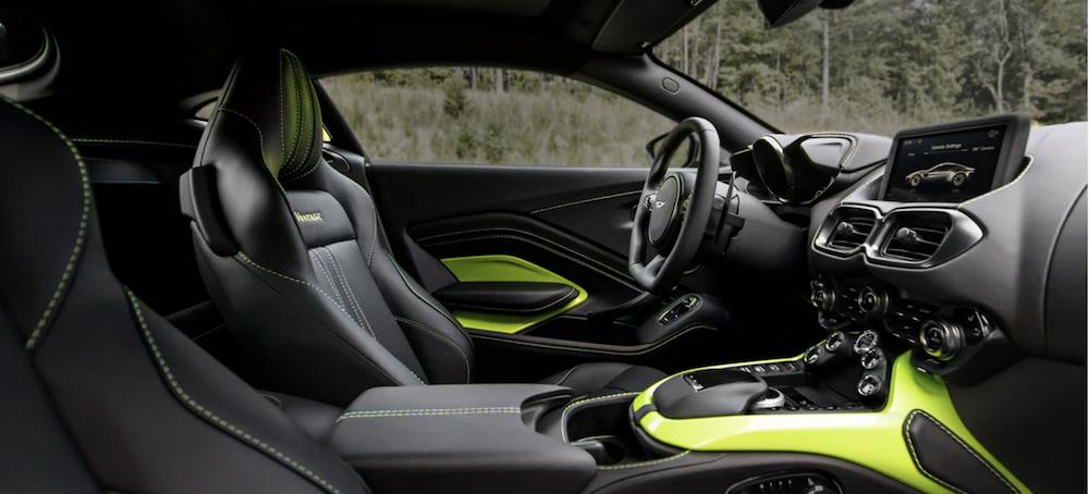 2021 Aston Martin Vantage front seat interior
