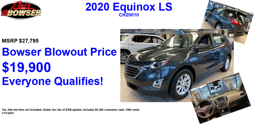 Equinox Blowout Special Pricing