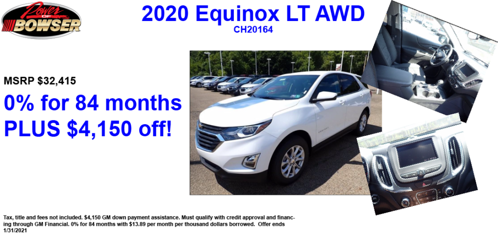 2020 Equinox Special APR Offer