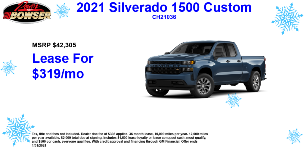 2021 Chevy Silverado Special Offer