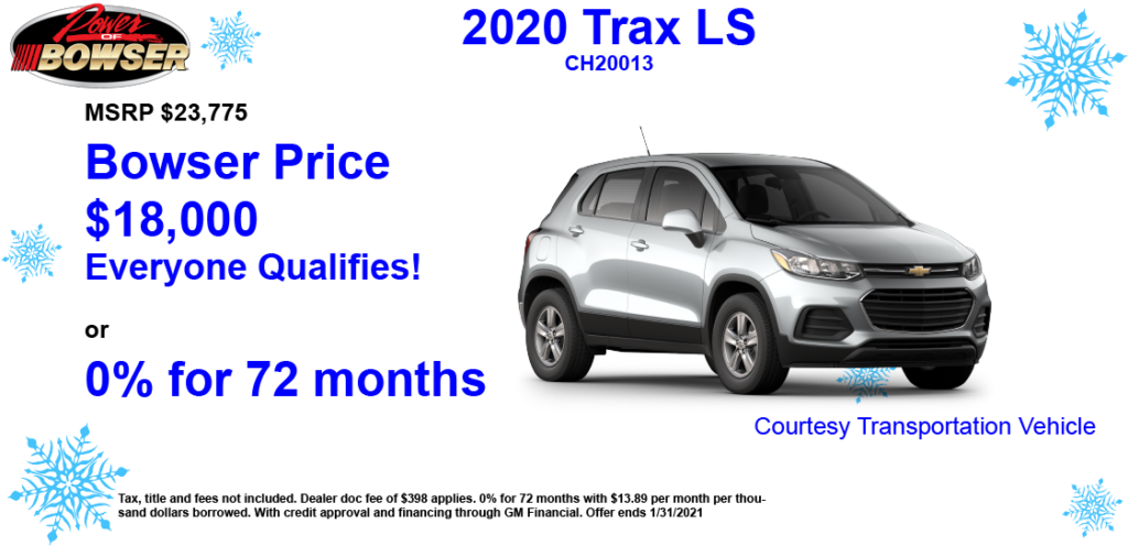 2020 Trax Special Offer
