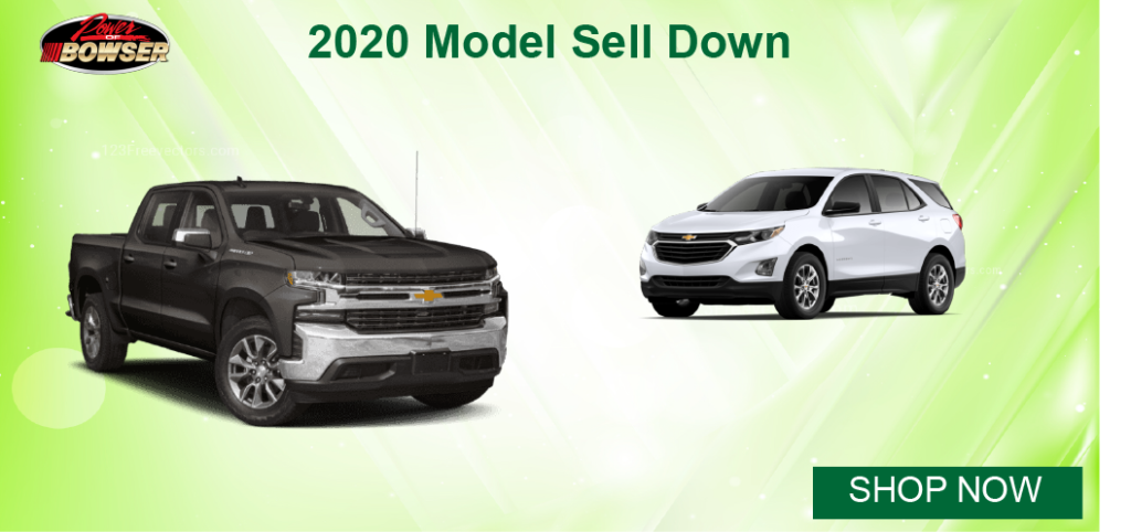 2020 Chevy model sell down