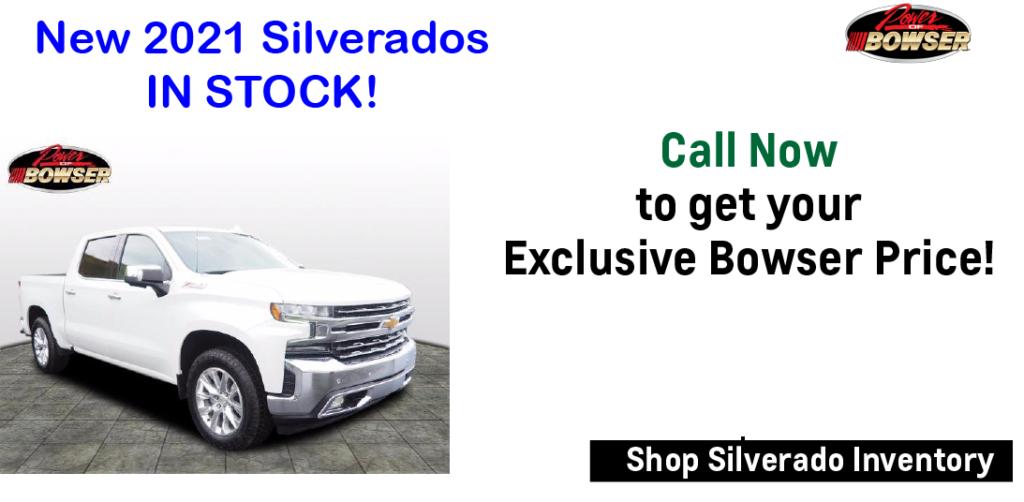 new Chevy Silverado in stock