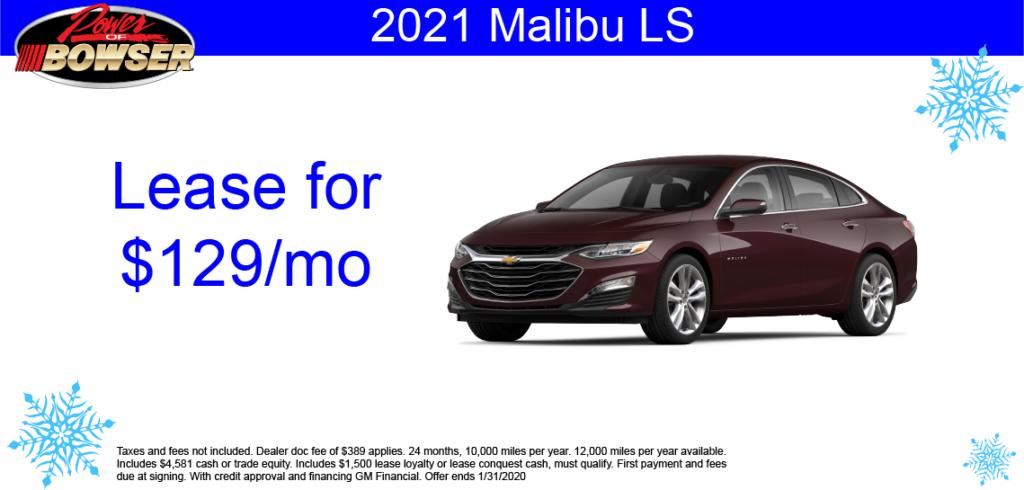 2021 Malibu Special Offer