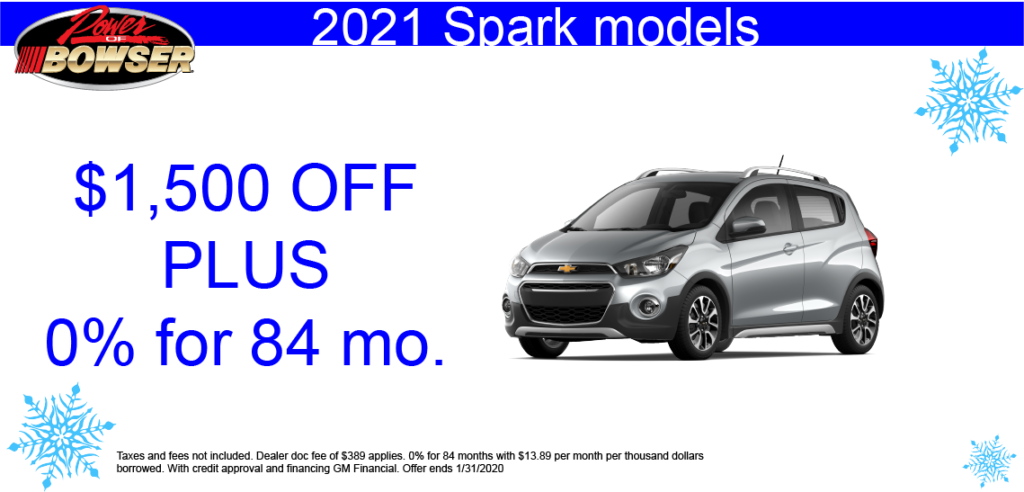 2021 Chevy Sparks Special Offer