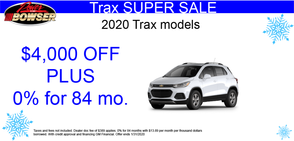 2020 Trax Special Offers