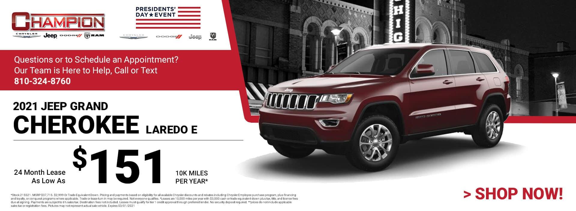 2021 Grand Cherokee Laredo E