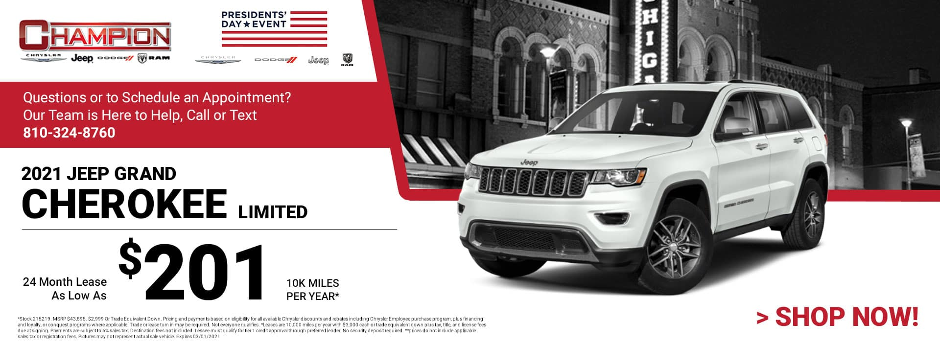 2021 Jeep Grand Cherokee Limited - Lease