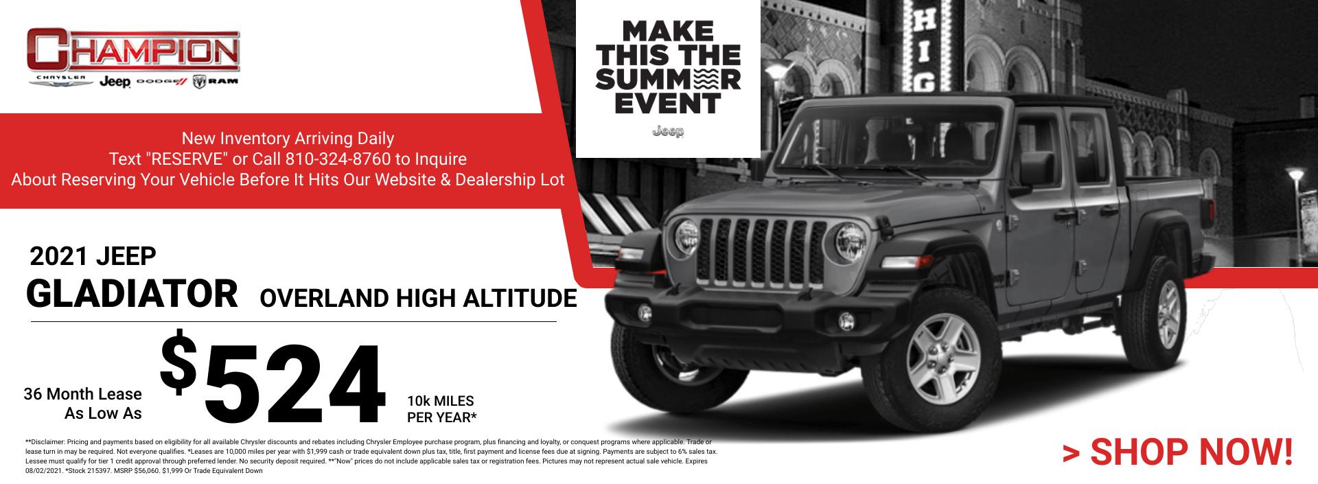 2021 Jeep Gladiator Overland High Altitude