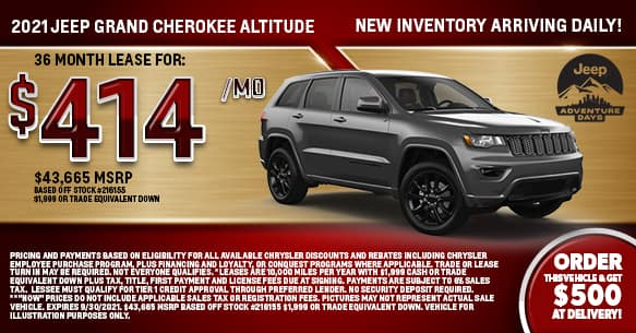 2021 Jeep Grand Cherokee Altitude Lease Offer