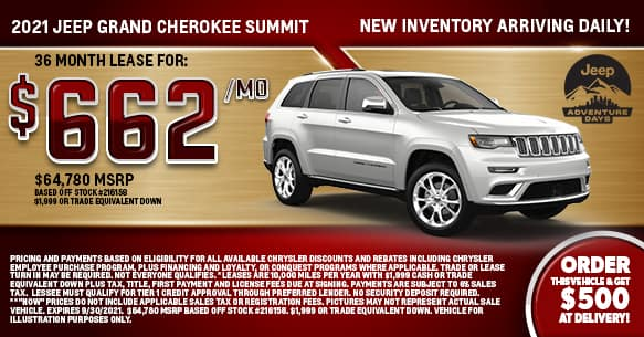 2021 Jeep Grand Cherokee Summit Lease Offer