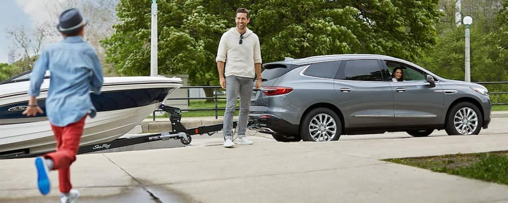 Buick Enclave with a boat