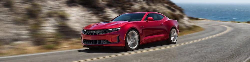 2021 Chevy Camaro Driving on Highway