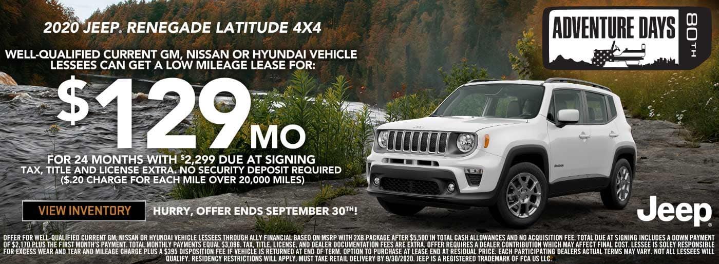 Jeep Renegade Lease Incentive