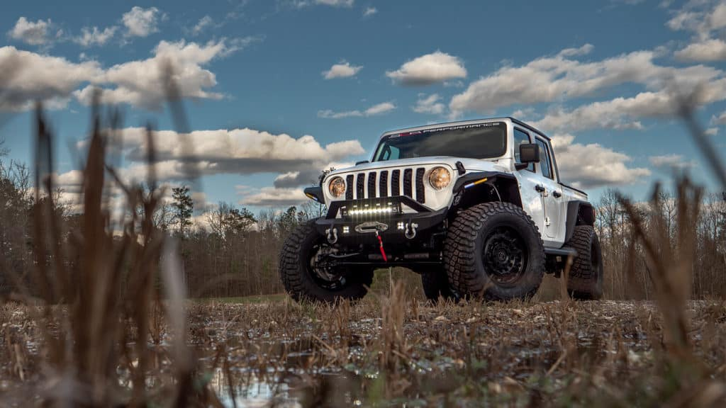 Lifted Jeep Gladiator with Factory Warranty