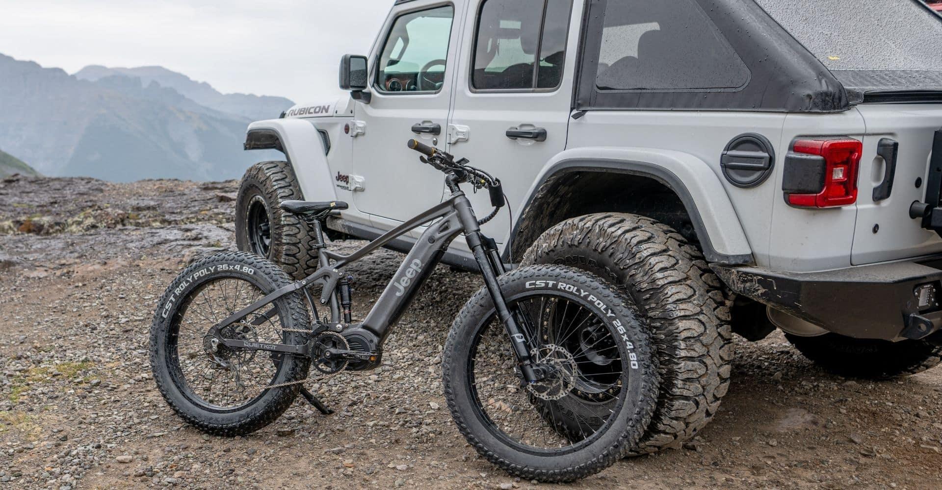 Jeep E-Bike Rough Terrain with Jeep Wrangler