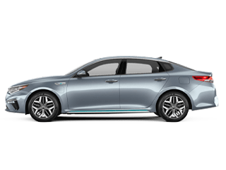 Side-view of the Kia Optima Plug-in Hybrid