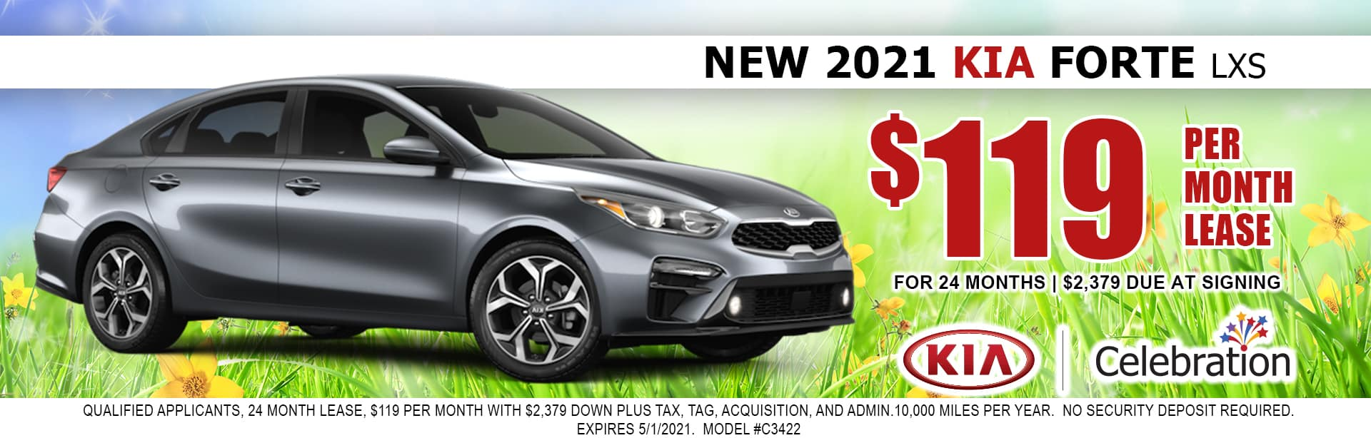 2021 Kia Forte lease for $119/mo