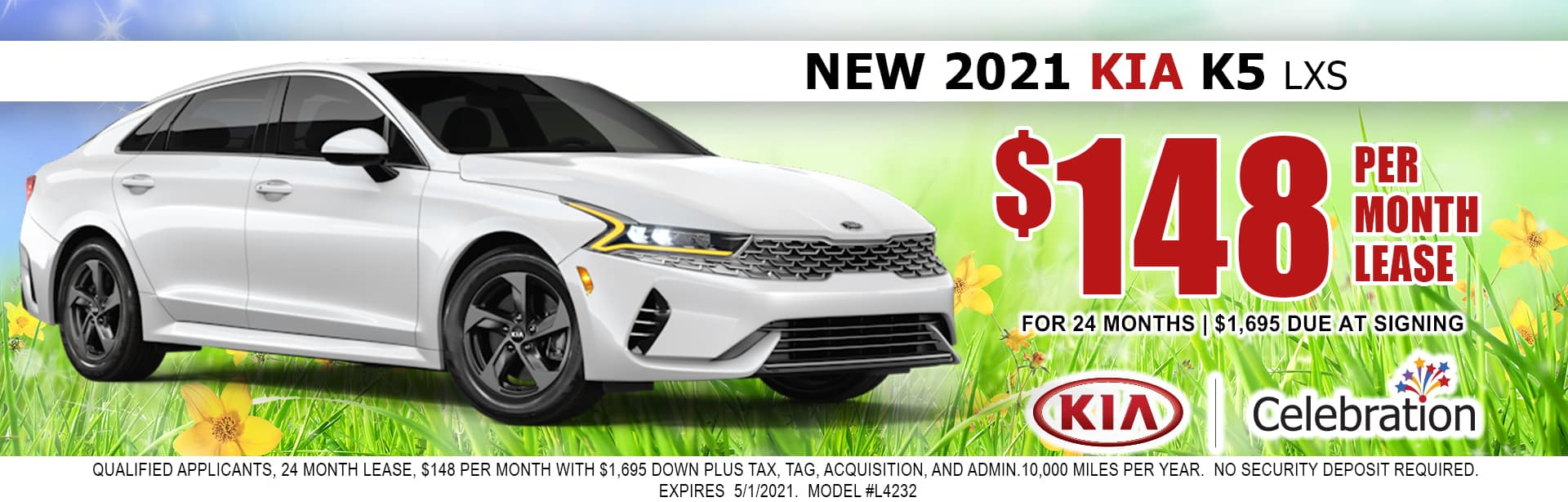 2021 Kia K5 lease for $148/mo