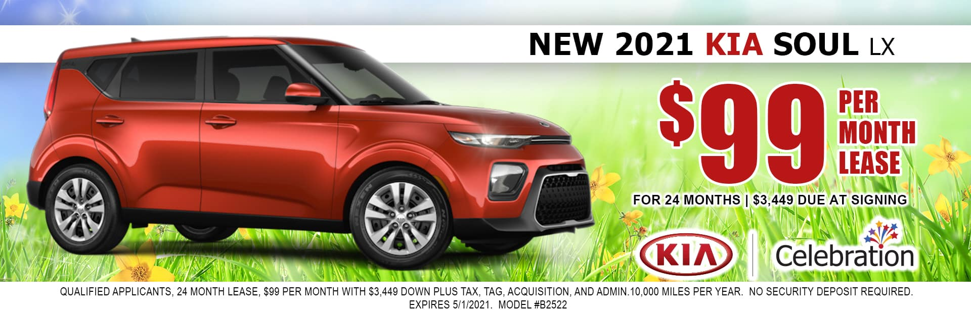 2021 Kia Soul lease for $99/mo
