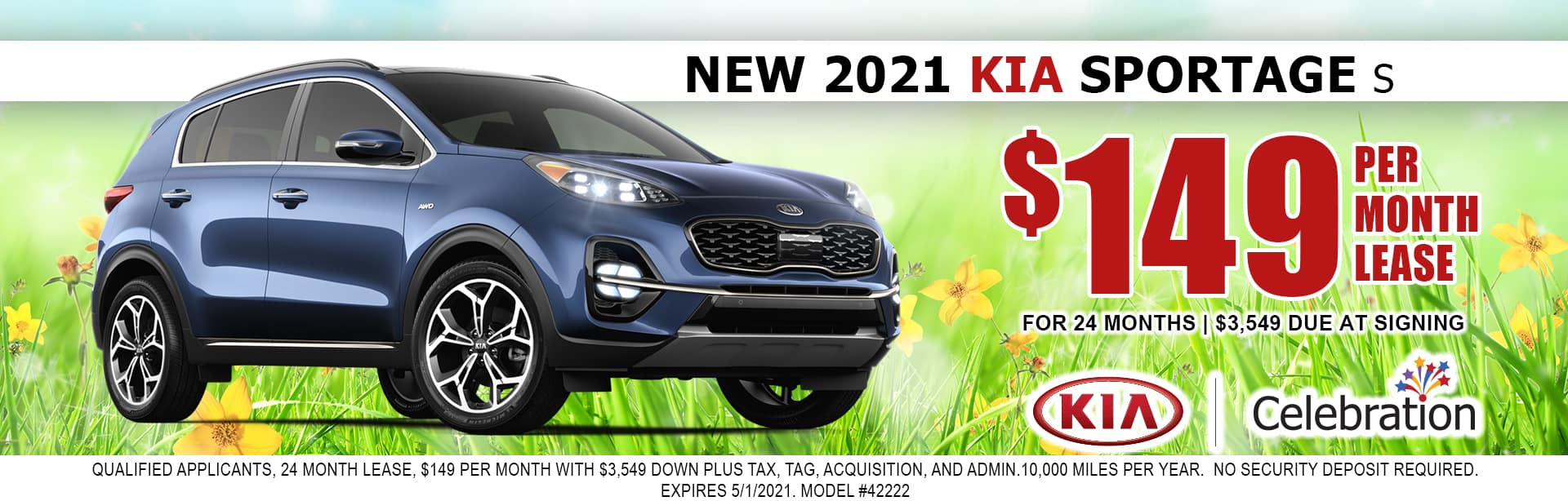 2021 Kia Sportage lease for $149/mo