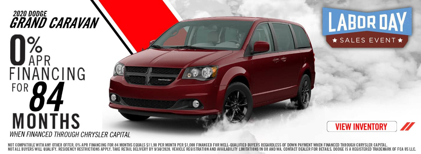 2020 Labor Day Dodge Grand Caravan