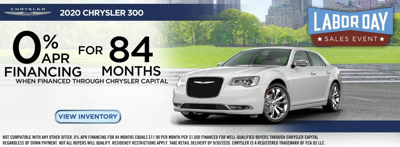 2020 Labor Day Chrysler 300
