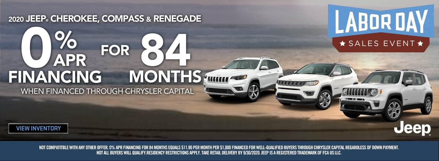2020 Labor Day Jeep Cherokee Compass & Renegade