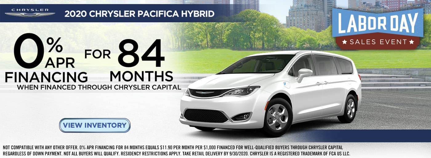 2020 Labor Day Chrysler Pacifica Hybrid