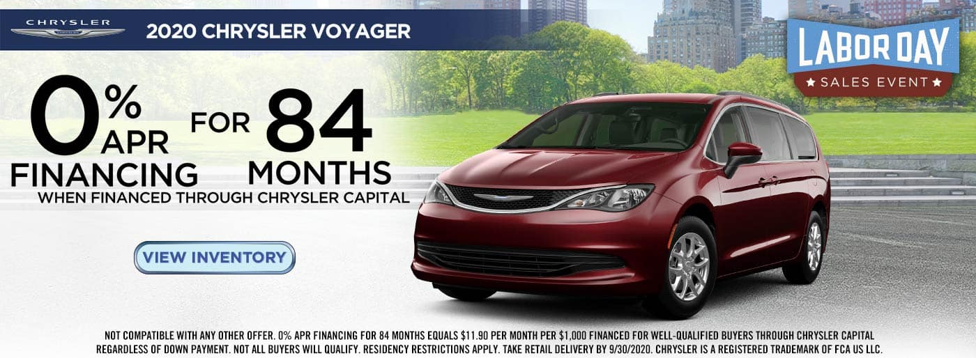 2020 Labor Day Chrysler Voyager