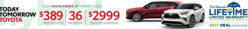 2020 Toyota Highlander Lease Offer