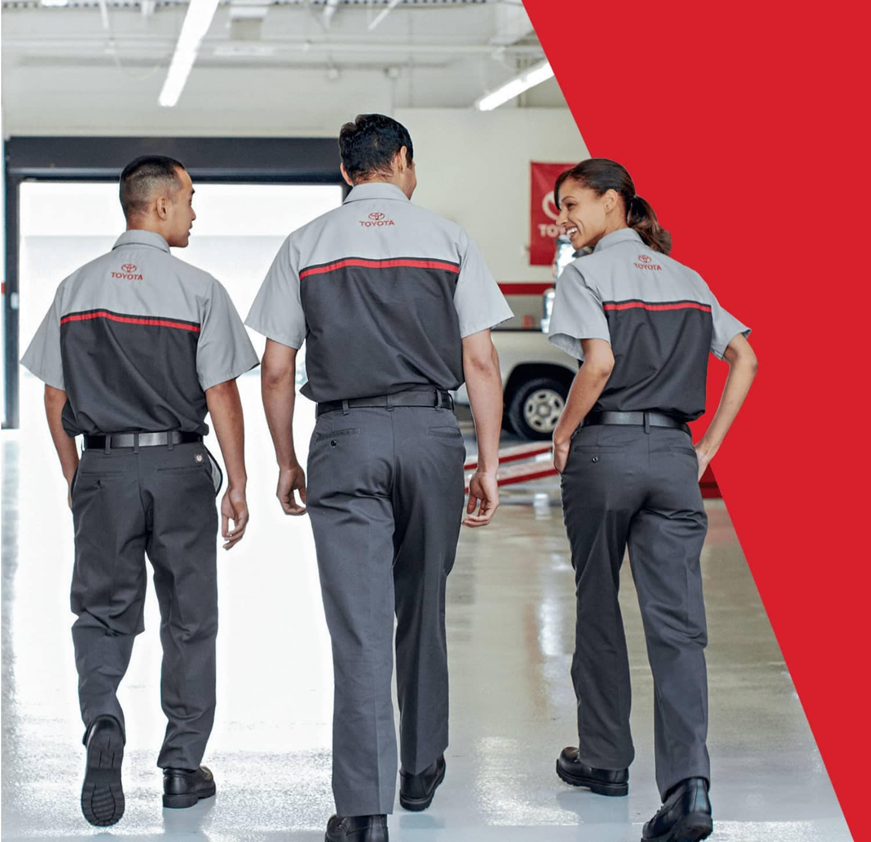 Toyota Technicians Walking