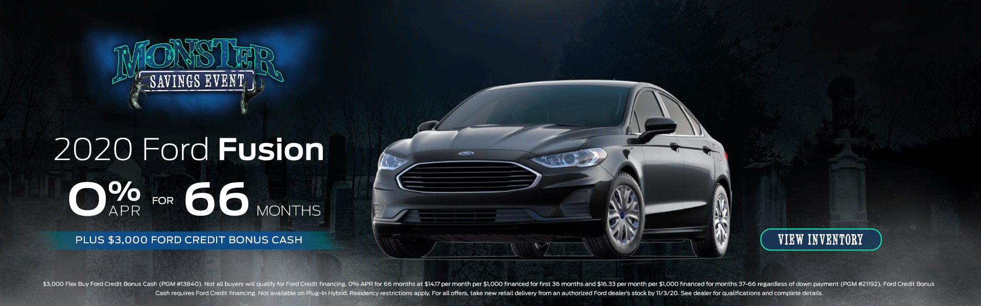 2020 Ford Fusion Monster Savings