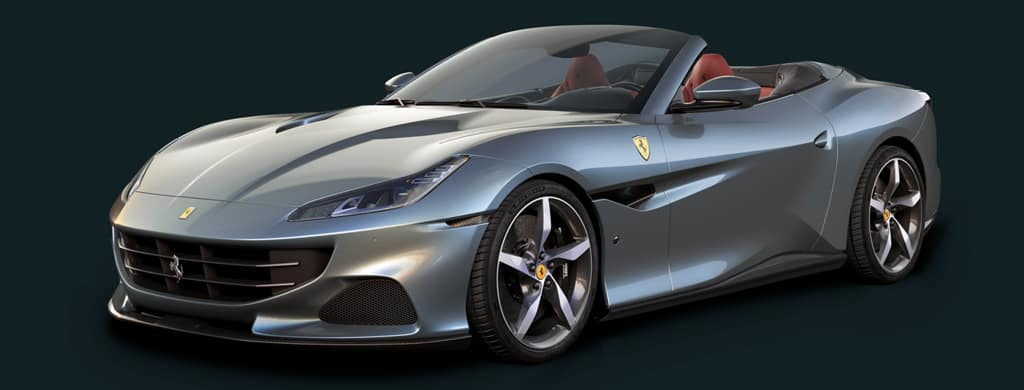 Ferrari portofino by water
