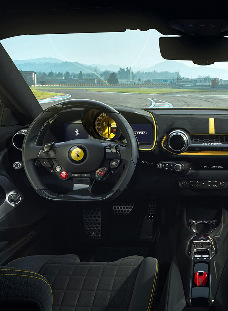 Ferrari 812 Competizione interior