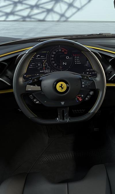 Ferrari 269 GTB interior infotainment