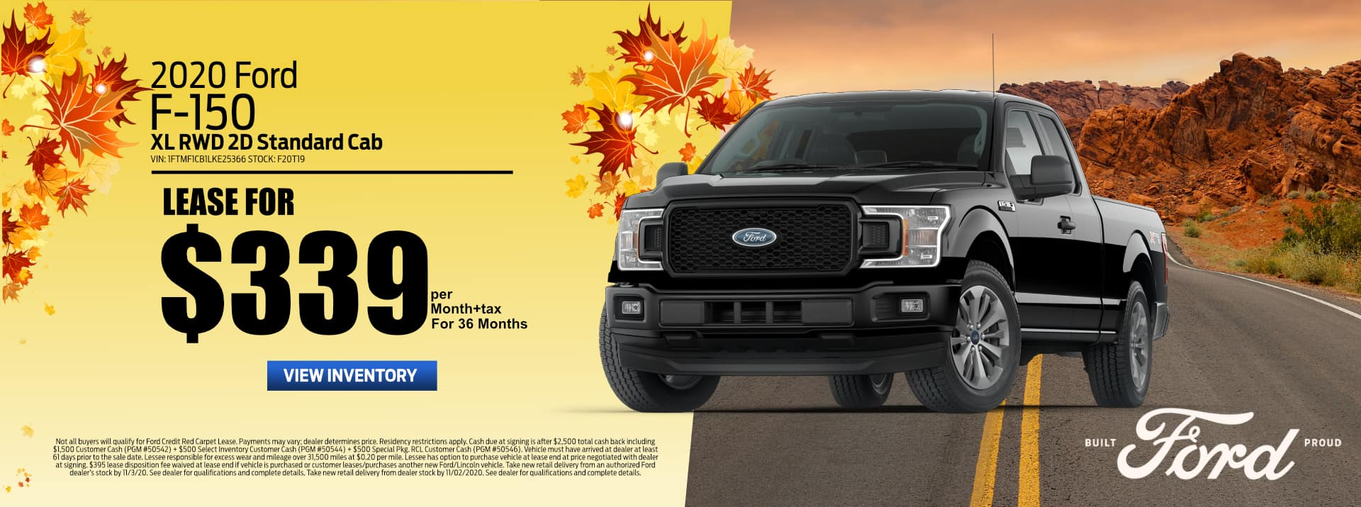 October 2020 FORD F-150 Lease FF