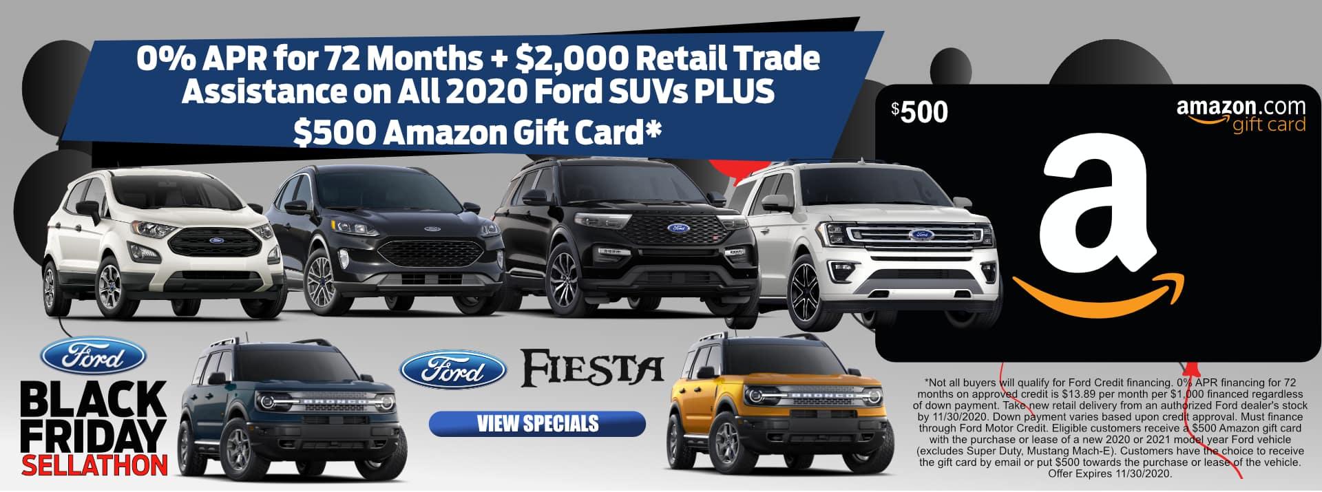 November-2020 Black Friay $500 Amazon Card SUVFF