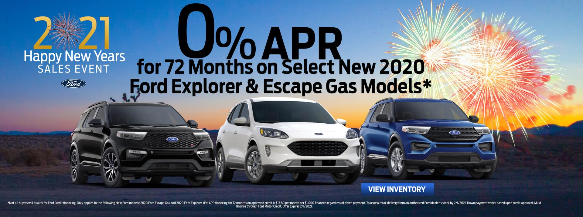 January-2021 Ford Escape&Explorer GENERAL FIESTA FORD