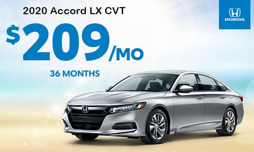 2020 Accord LX CVT Lease Special