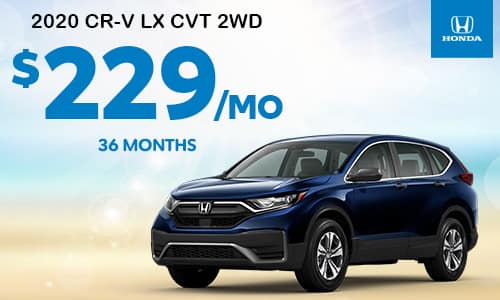 2020 CR-V LX CVT 2WD Lease Special