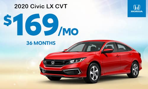 2020 Civic LX CVT Lease Special