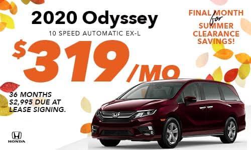 2020 Odyssey Lease Offer