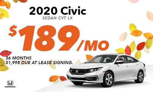2020 Civic Lease Offer