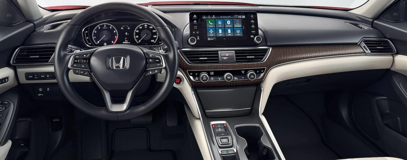 The dashboard and screen in a 2021 Honda Accord are shown.