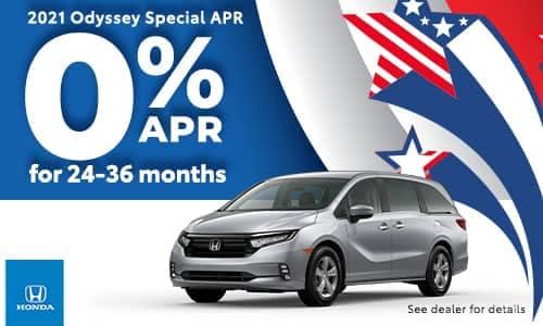 2021 Odyssey Special APR Offer