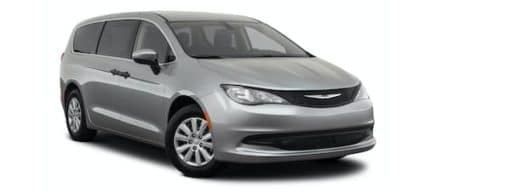 A grey 2021 Chrysler Voyager is angled right.